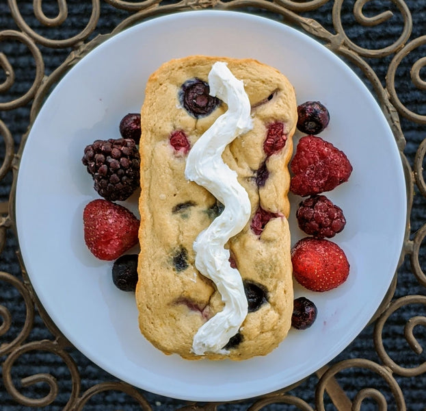 Vanilla Berry Protein Cake (WW Friendly)