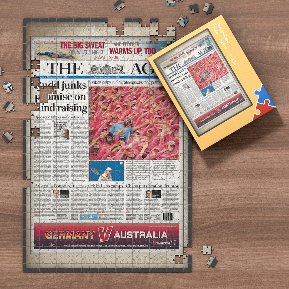 The Age Front Page Jigsaw Puzzle Personalized Newspaper Puzzle, Best Gift For Birthday And Anniversary