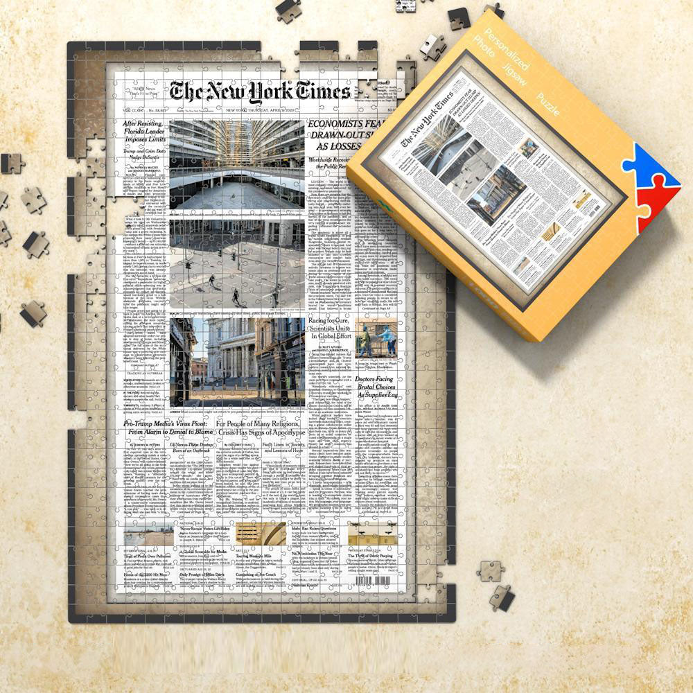 The New York Times Custom Photo Puzzle News Paper Puzzle Personalized From A Specific Date, Birthday Puzzles, NY Times Front Page Birthday Puzzle
