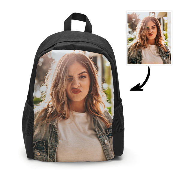 Back To School Custom Photo Backpack School Bag For Boys And Girls