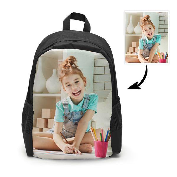 Custom Photo School Backpack, Picture Backpacks For Boys And Girls