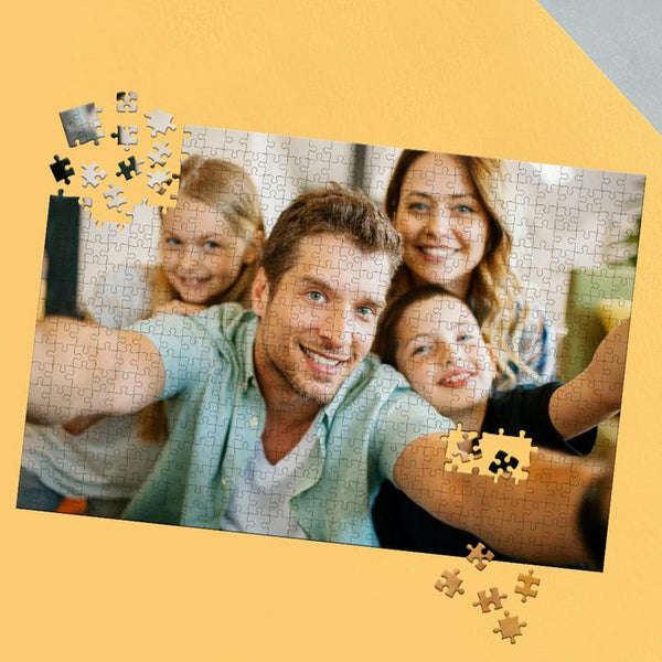 Custom Photo Jigsaw Puzzle Happy Father's Day Gifts - 35-1000 pieces