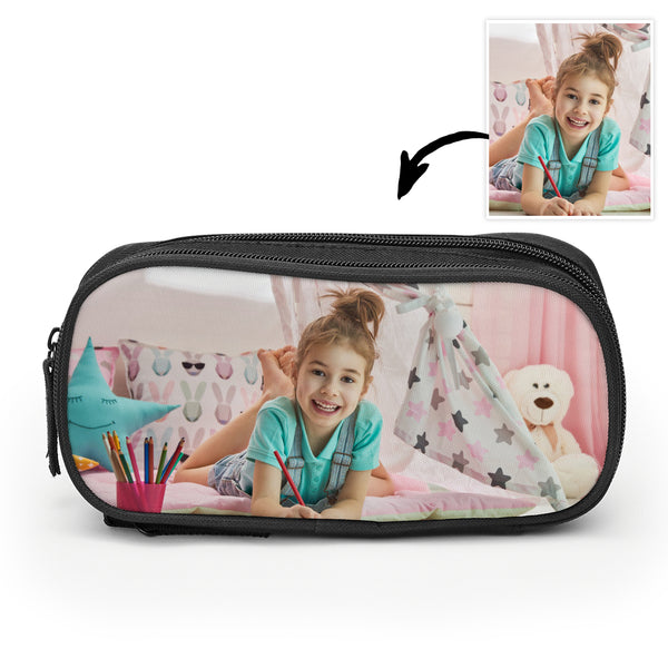 Back To School Custom Photo Pencil Case For Boys And Girls