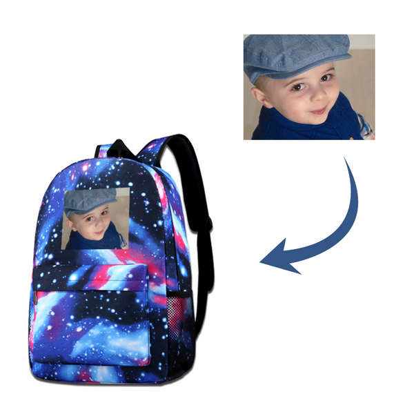 Galaxy Personalized Photo Schoolbag