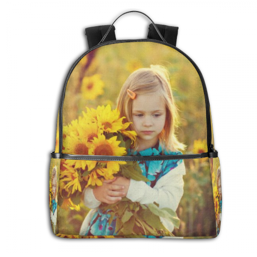 Personalized Photo Schoolbag Backpack All Print