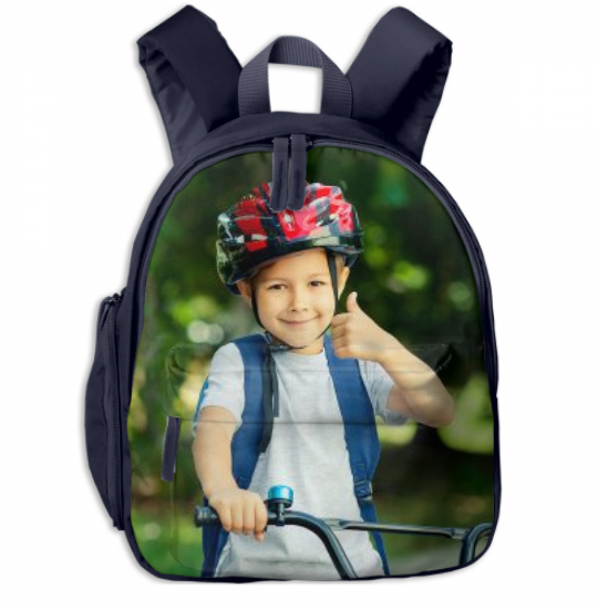 Kid's Personalized School Photo BookBag
