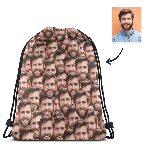 Custom Face Drawstring Sportpack - Mash Face