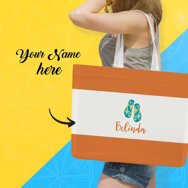 Personalized Beach Bag, Custom Storage Handbag, Tote Bag With Your Name