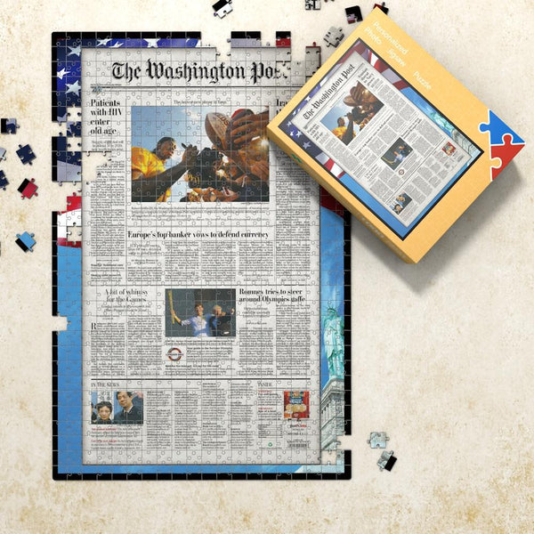 The Washington Post Front Page Jigsaw Puzzle Newspaper Puzzle Personalized From A Specific Date Your Memory Day Puzzle - 1000 Pieces Max