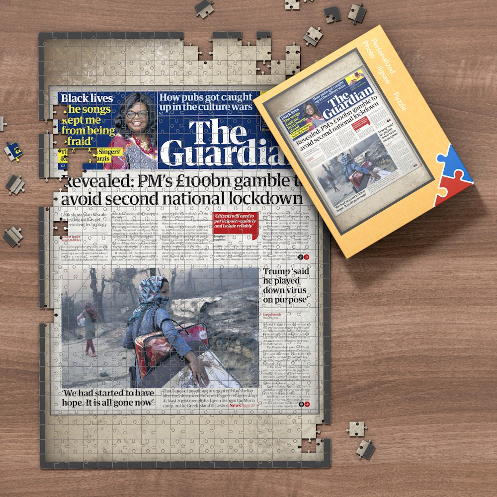 The Guardian Front Page Jigsaw Puzzle, Personalized From A Specific Date You Were Born Your Memorial Day, Birthday Gift Idea-1000 Pieces Max