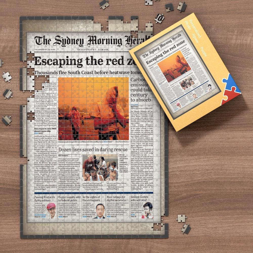 The Sydney Morning Herald Front Page Jigsaw Puzzle, Best Gift For Birthday And Anniversary