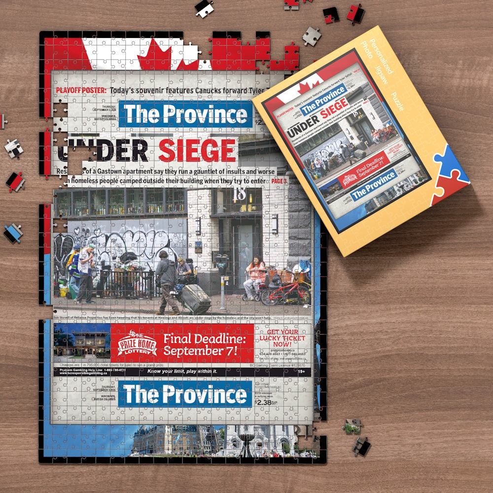 The Province Front Page Jigsaw Puzzle, Personalized From A Specific Date You Were Born Your Memorial Day, Birthday Gift Idea-1000 Pieces Max