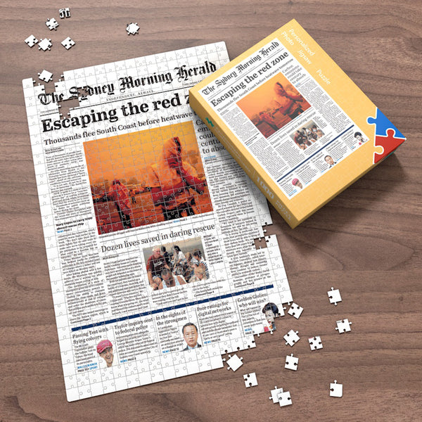 The Sydney Morning Herald Front Page Jigsaw Puzzle, The Day You Were Born Birthday Puzzles