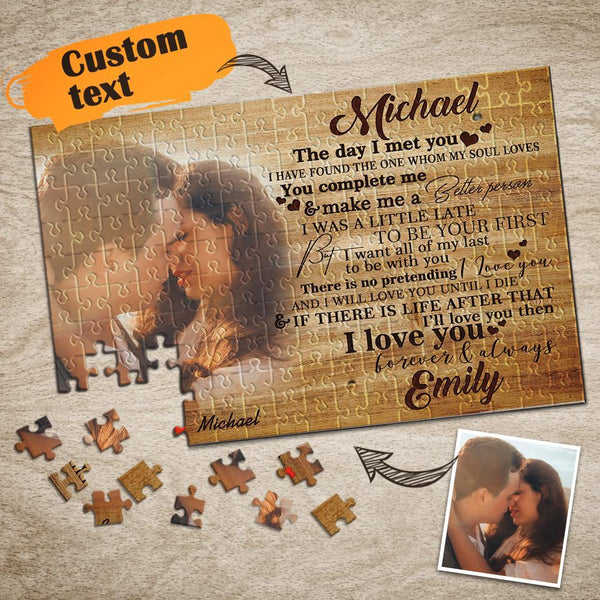 Custom Text Photo Puzzle 35,150,300,500,1000 Piece Valentine's Day Gift Jigsaw Puzzle for Lovers