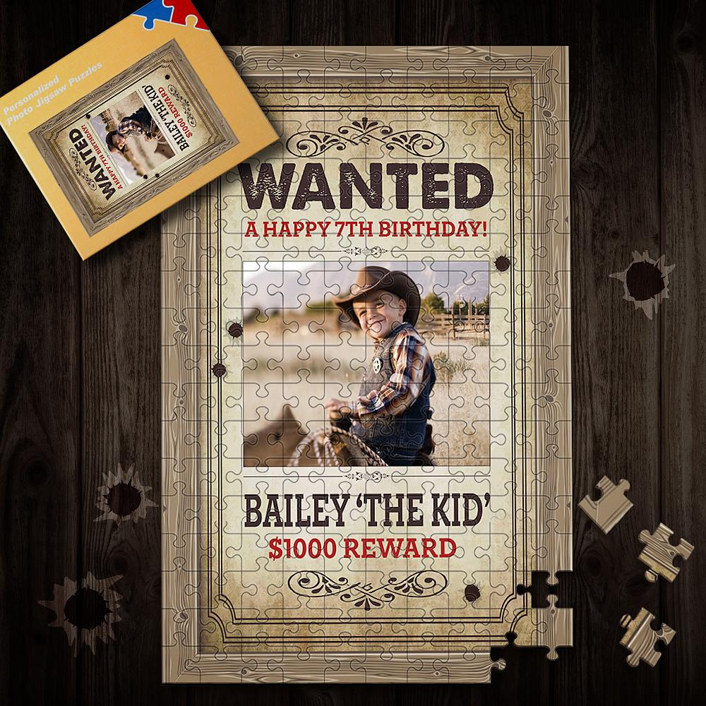 Wanted Puzzle 35-1000 Piece Custom Birthday Jigsaw for Memorable Days