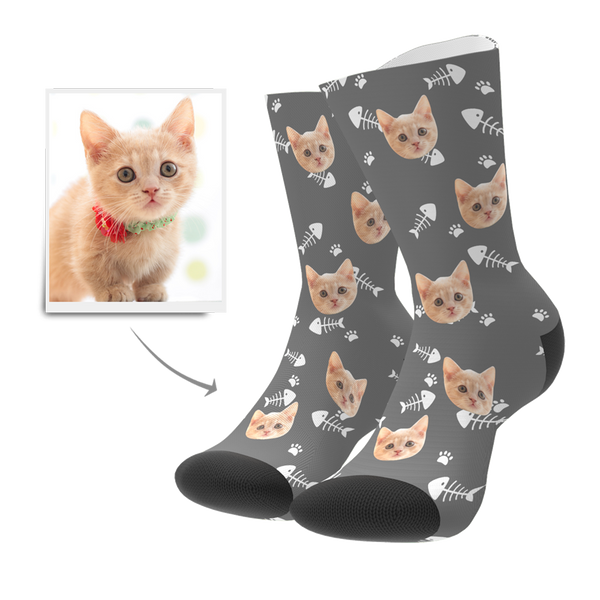 Custom Cat Socks - MyPhotoBags