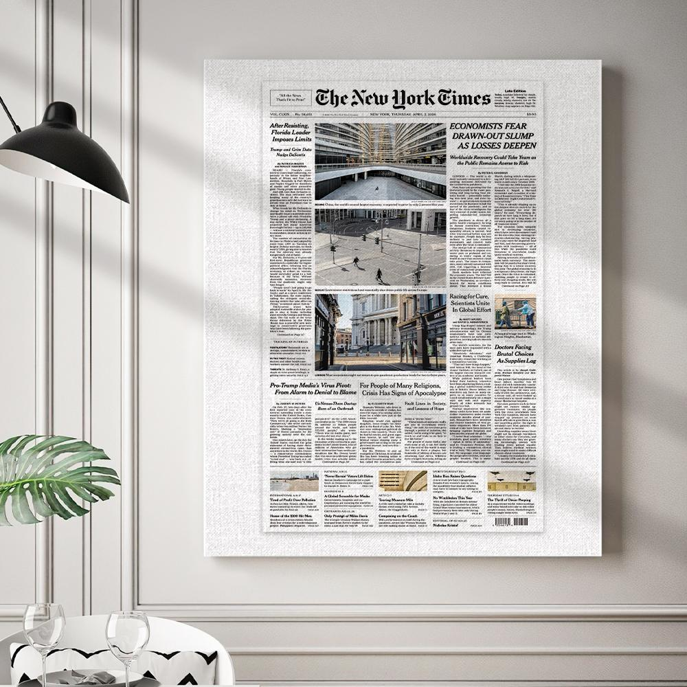 The New York Times Canvas Personalized from a Specific Date Your Memory Day (HD Online Preview) Custom Newspaper Canvas