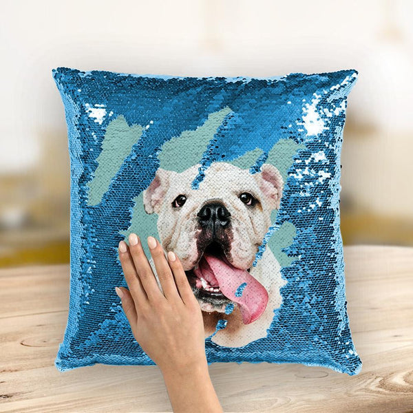 Custom Photo Magic Sequins Pillow Multicolor Shiny 15.75''*15.75''