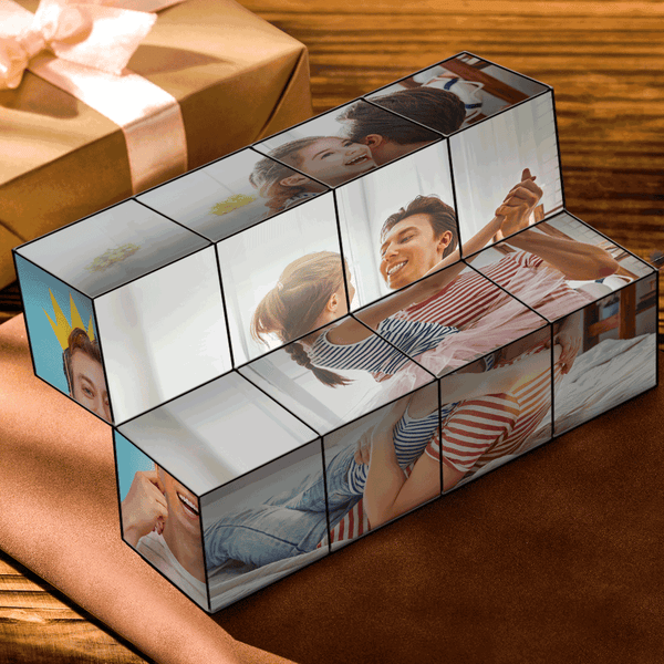 Custom DIY Magic Folding Photo Rubik's Cube | Christmas Gift
