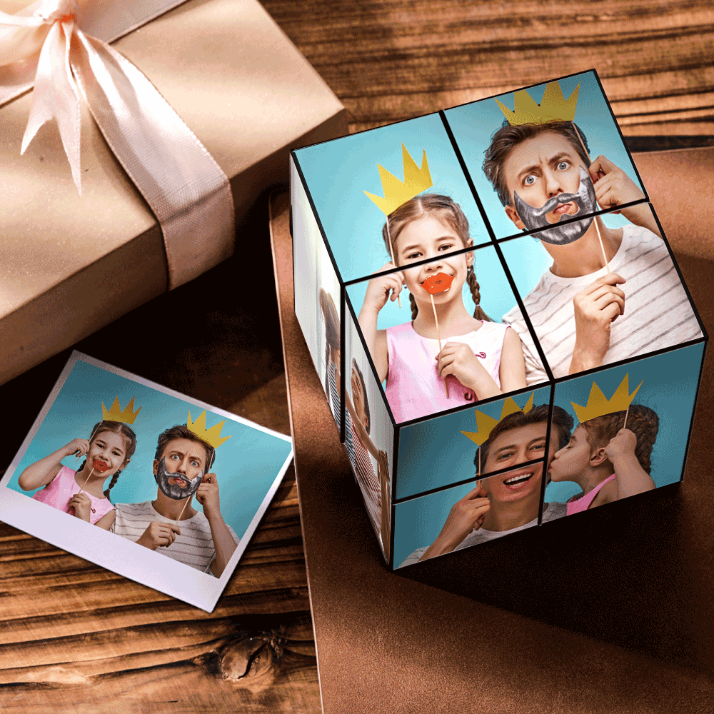 Custom DIY Magic Folding Photo Cube-Share