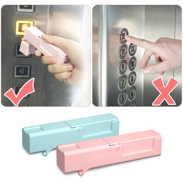 Zero Contact Helper Tool Virus Defender Elevator Press Stick Door Open Sticker Door Handle