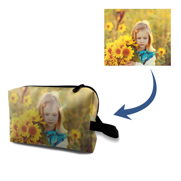 Personalized Photo Cosmetic storage bag
