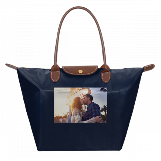Navy bag Le Pliage Large Shoulder Tote Bag for women