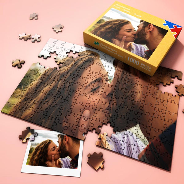 Custom Photo Jigsaw Puzzle Save the love moment