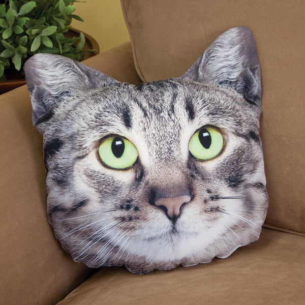 Custom Pet Photo Pillow, Cat And Dog Shaped Pillow, Pet Loss Gift