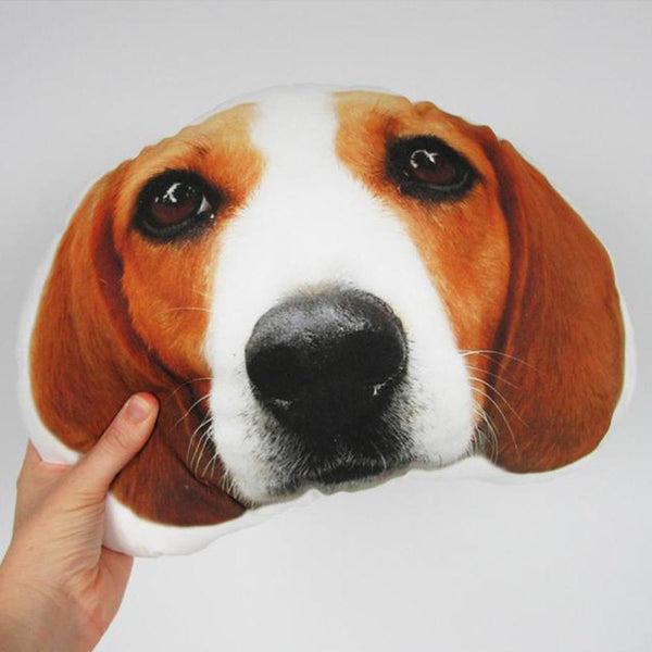 Custom Pet Portrait Face Pillow, Dog Shaped Pillow From Pictures, Dog Memorial Personalized Pillow