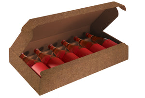 Couro gift box for 6 bottles in brown (x10)