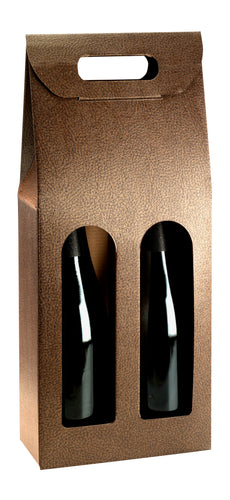 Couro gift box with window for 2 bottles in leather (x25)