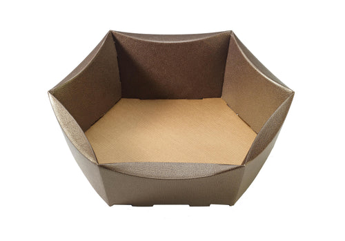 Couro medium hexagonal hamper (x25)
