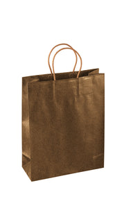 Paper carrier bag in gold (x20)