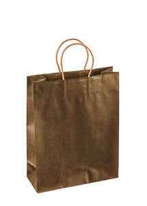 Paper carrier bag for 4 bottles in gold (x20)