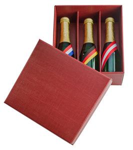 Scala gift box for 3 half bottles in red (x25)