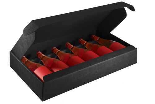 Scala gift box for 6 bottles in black (x10)