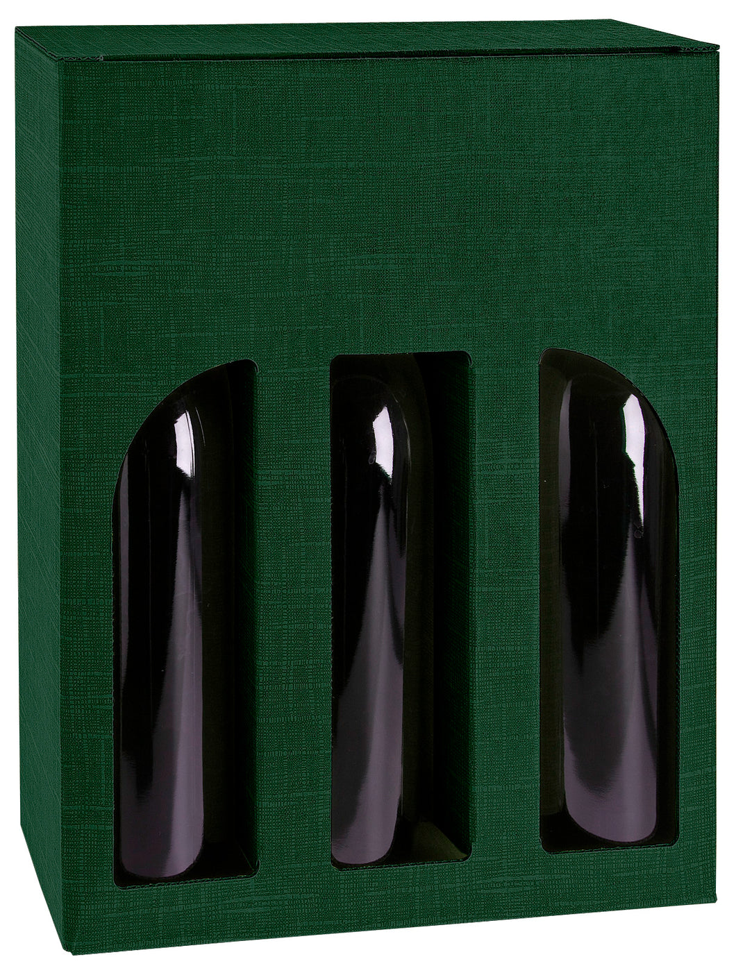 Scala gift box with window for 3 bottles in green (x25)