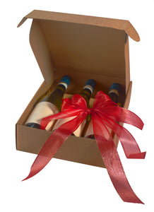 Scala gift box for 3 bottles in brown (x25)