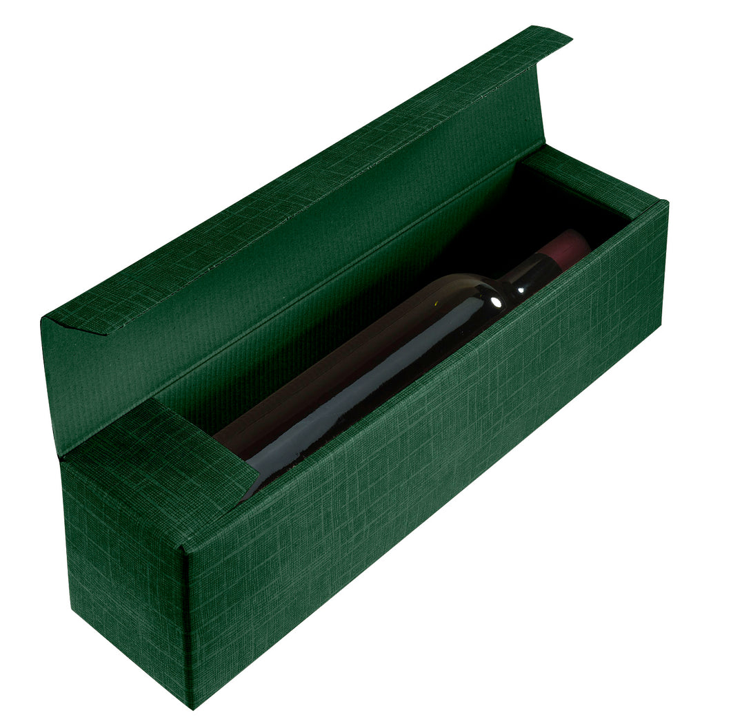 Scala bedded box for 1 bottle in green (x50)
