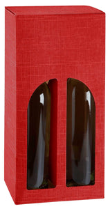 Scala carrier box with window for 2 bottles in red (x25)