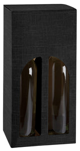 Scala gift box with window for 2 bottles in black (x25)