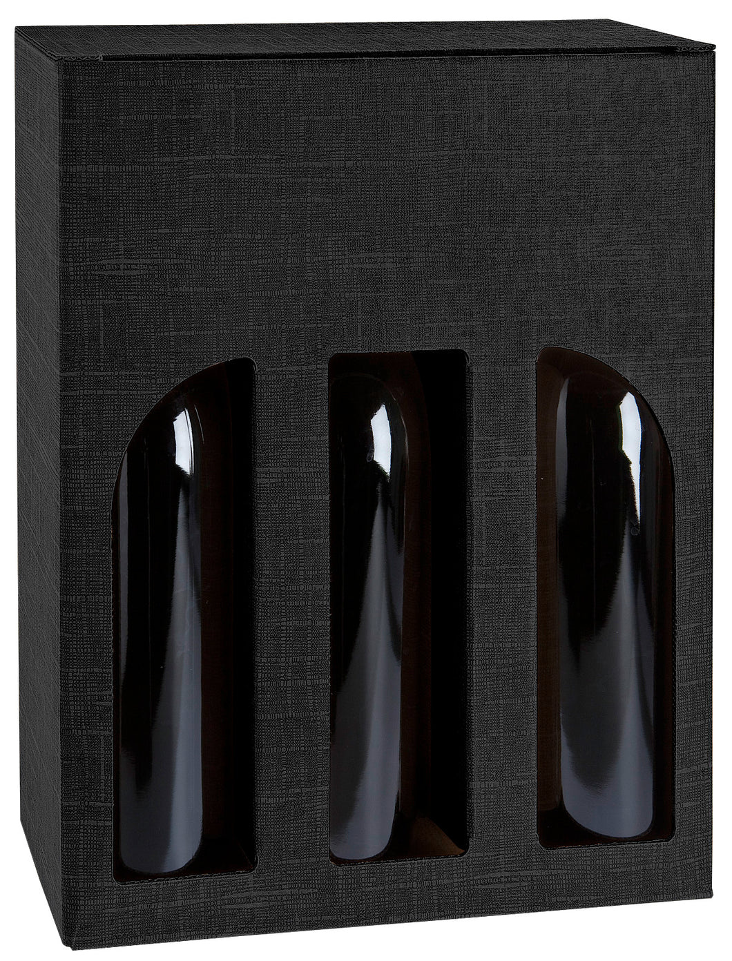 Scala grip hole box with window for 3 bottles in black (x25)