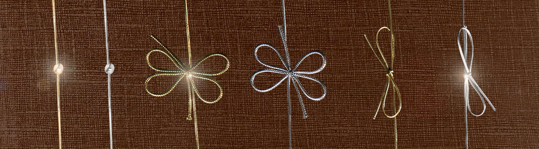 Bow with round elastic loop in gold (x50)