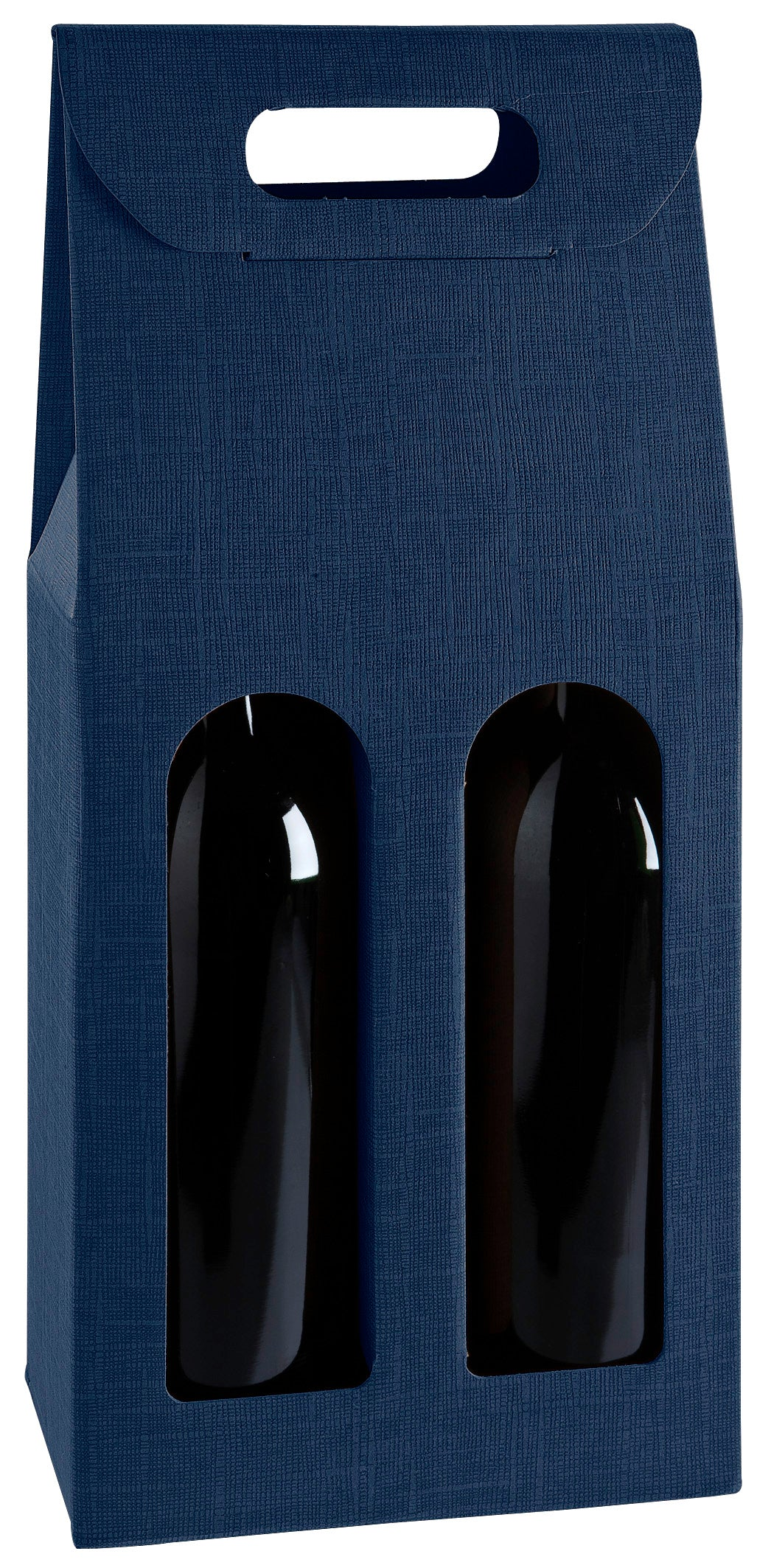 Scala carrier gift box with window for 2 bottles in blue (x25)