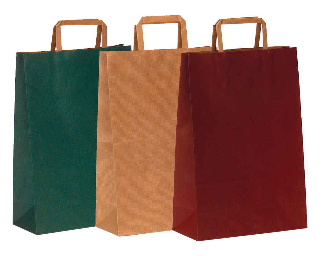 Paper carrier bag for 3 bottles in green (x250)
