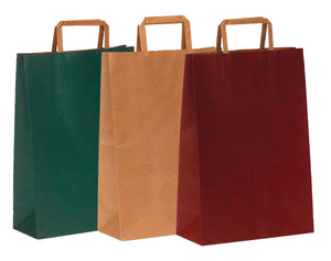 Paper carrier bag for 3 bottles in bordeaux (x250)