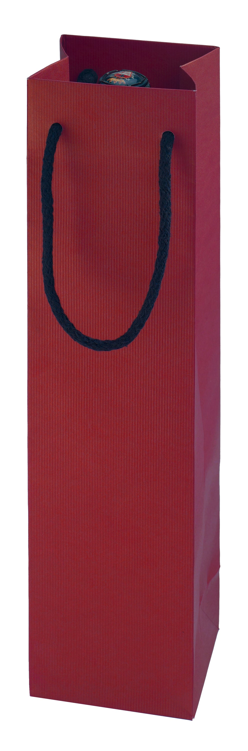 Paper carrier bag for 1 bottle in red (x50)