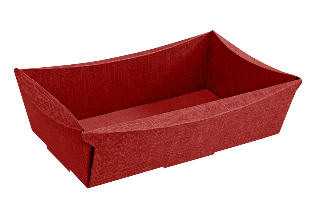 Scala medium rectangular hamper in red (x25)