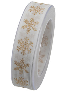 Stararena snowflake ribbon in gold (x2)